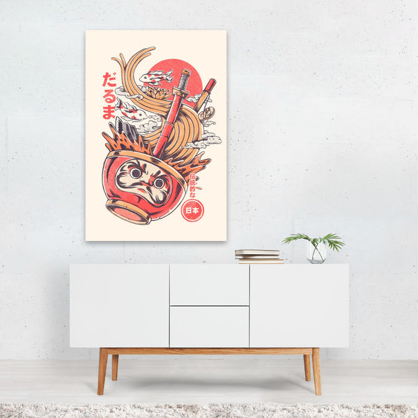 Japanese Daruma Doll Illustration Art Print