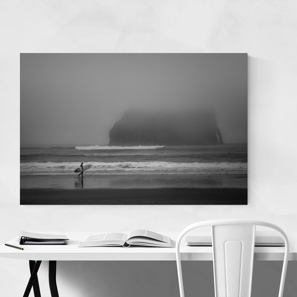 Cape Kiwanda Oregon Surfer Art Print