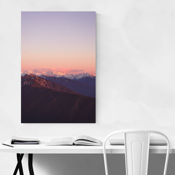 Olympic Mountains Landscape Art Print