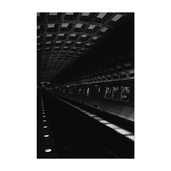 Washington DC Metro Urban Art Print