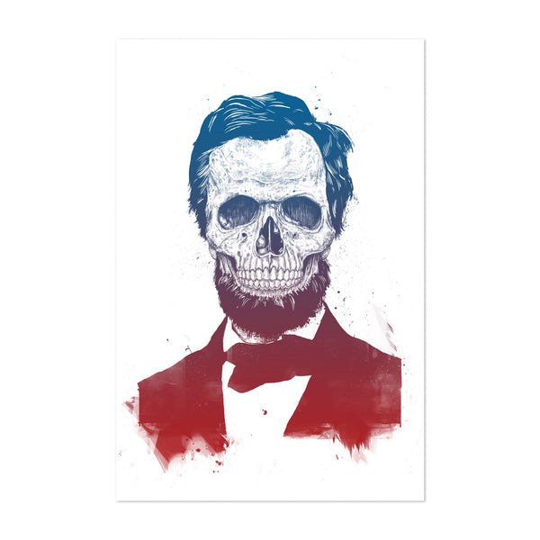 Skull Lincoln Illustration Art Print