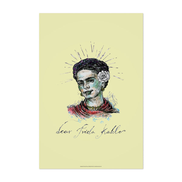 Frida Kahlo Portrait Figurative Art Print