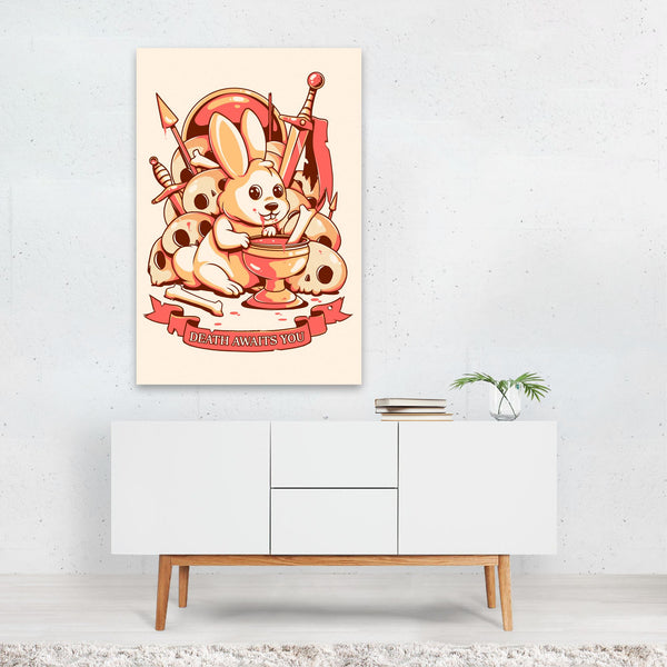 Animal Rabbit Illustration Art Print