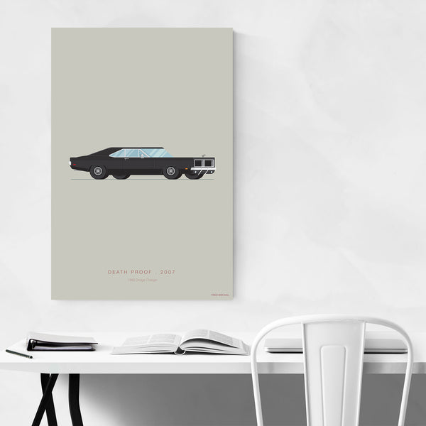 Death Proof Dodge Illustration Art Print