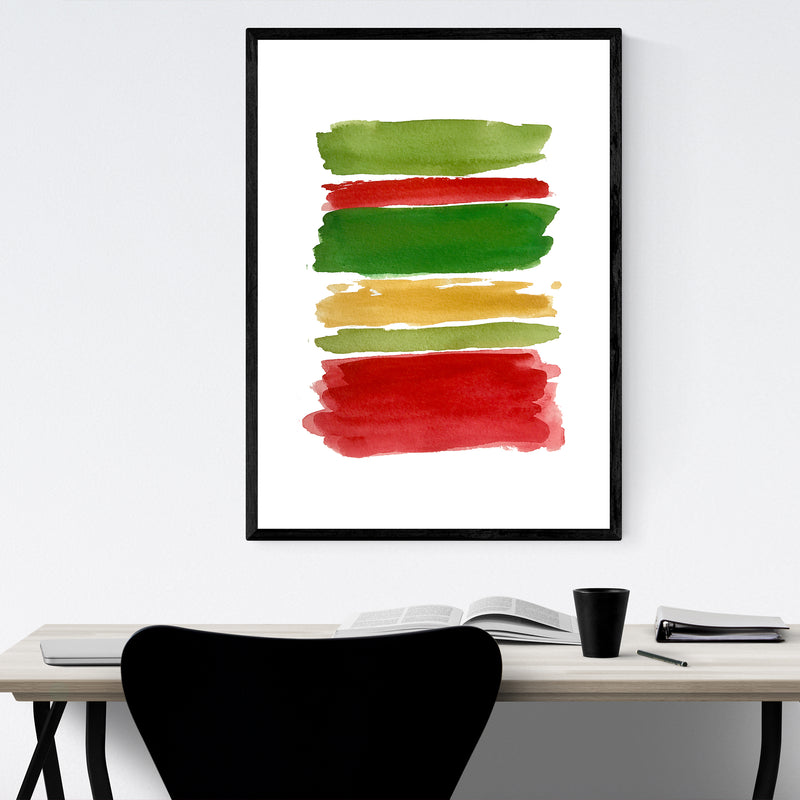Christmas Holiday Colors Abstract Framed Art Print