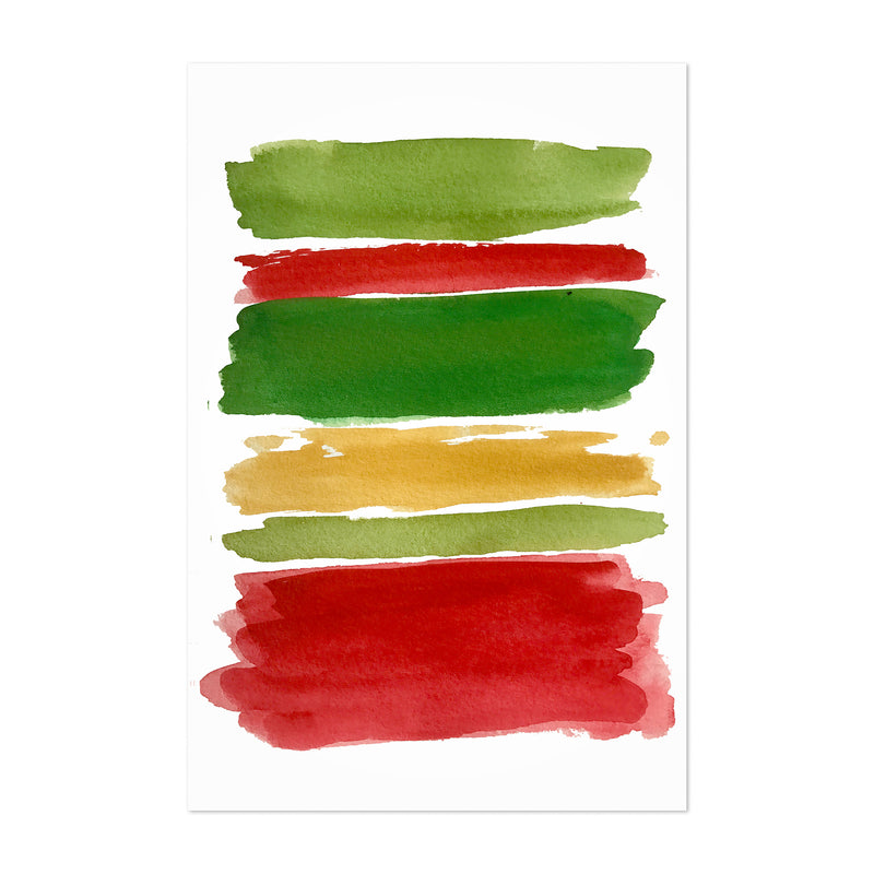 Christmas Holiday Colors Abstract Art Print