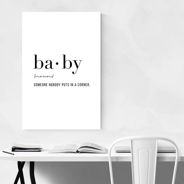 Baby Definition Typography Art Print