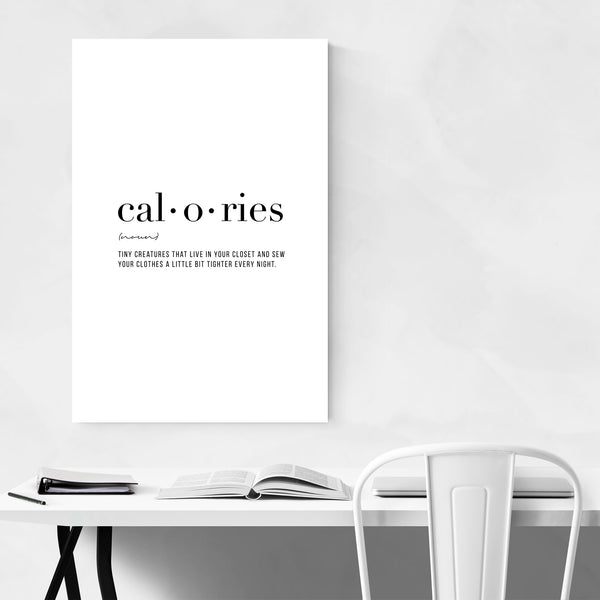 Calories Definition Typography Art Print