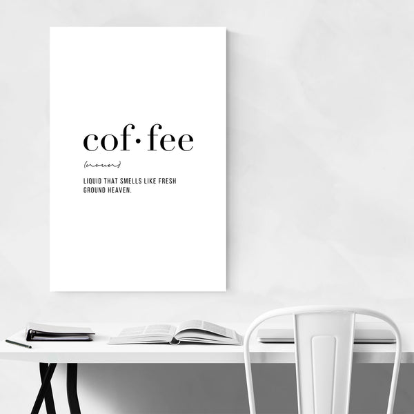 Coffee Definition Typography Art Print