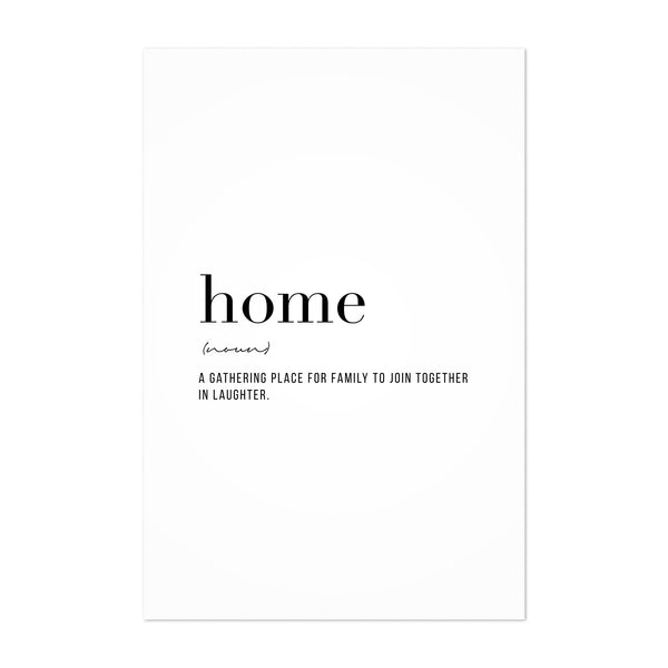 Home Definition Typography Art Print