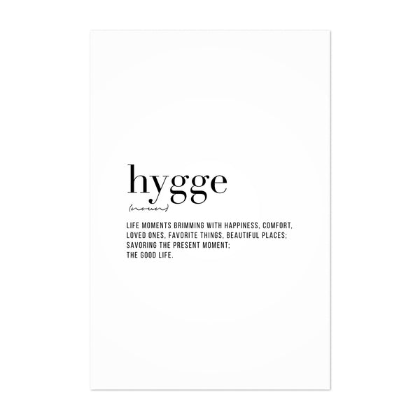 Hygge Definition Typography Art Print