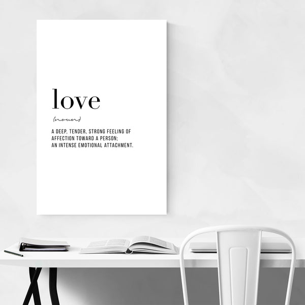 Love Definition Typography Art Print