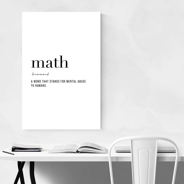 Math Definition Typography Art Print