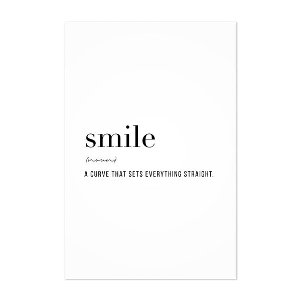 Smile Definition Typography Art Print