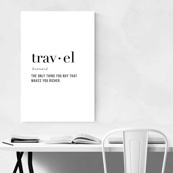 Travel Definition Typography Art Print