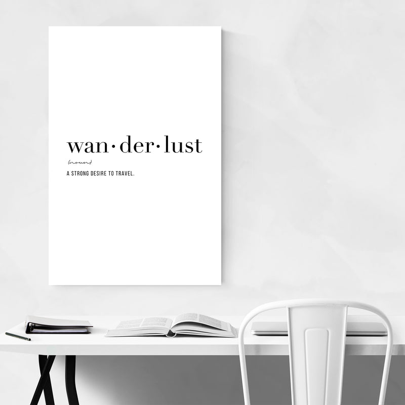 Wanderlust Definition Typography Art Print