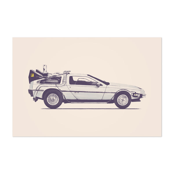 Delorean Back to the Future Art Print