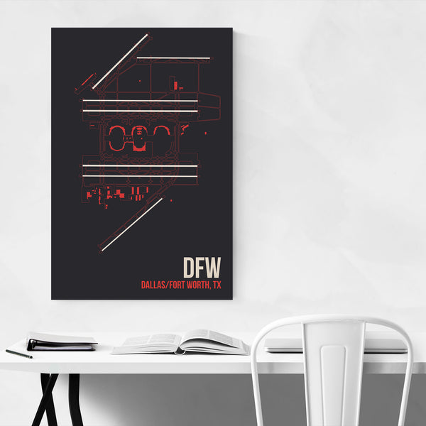 Dallas Texas Airport Code Poster Art Print
