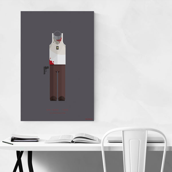 Die Hard Movie TV Illustration Art Print