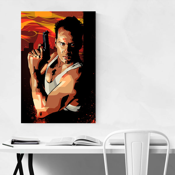 Bruce Willis Die Hard Art Print