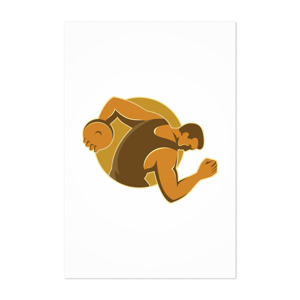 Discus Thrower Player Gift Retro Art Print