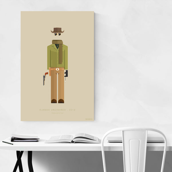 Django Unchained Illustration Art Print