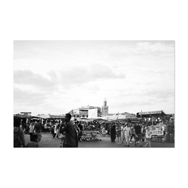 Marrakech Morocco Black & White Art Print