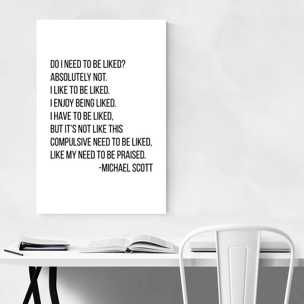 The Office TV Humor Quote Typography Art Print