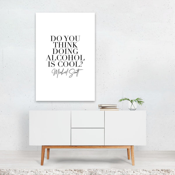 The Office Michael Scott Typography Art Print