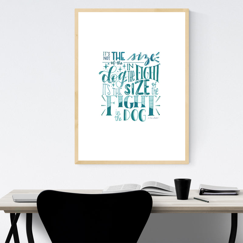 Inspirational Quote Typography Framed Art Print