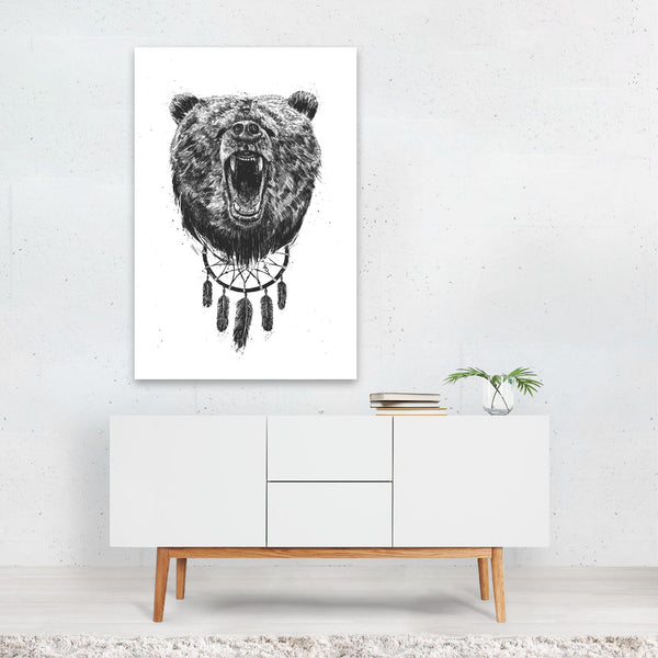 Bear Dreamcatcher Cat Illustration Art Print