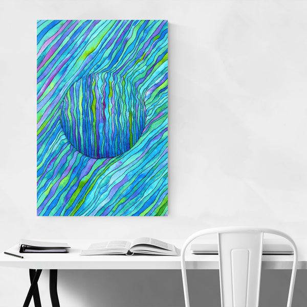 Abstract Watercolor Line Drawing Art Print