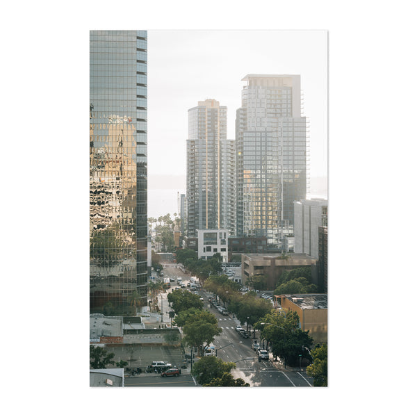 San Diego Downtown Skyline Art Print