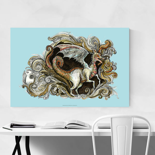 Dragon Fantasy Illustration Art Print