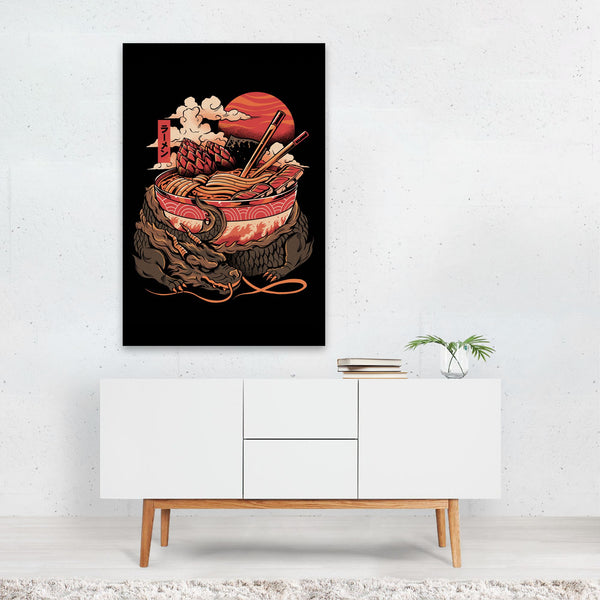 Kitchen Dragon Fantasy Ramen Art Print