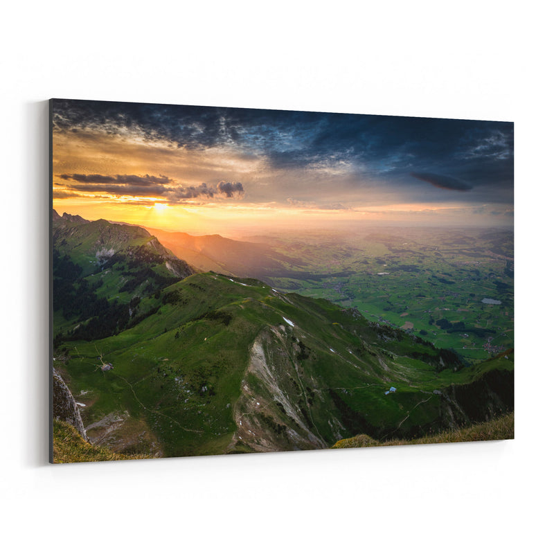 Thun Switzerland Landscape View Canvas Art Print