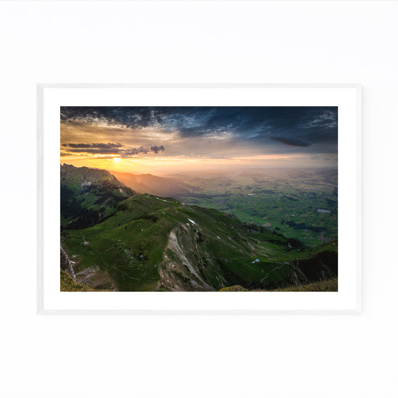 Thun Switzerland Landscape View Framed Art Print