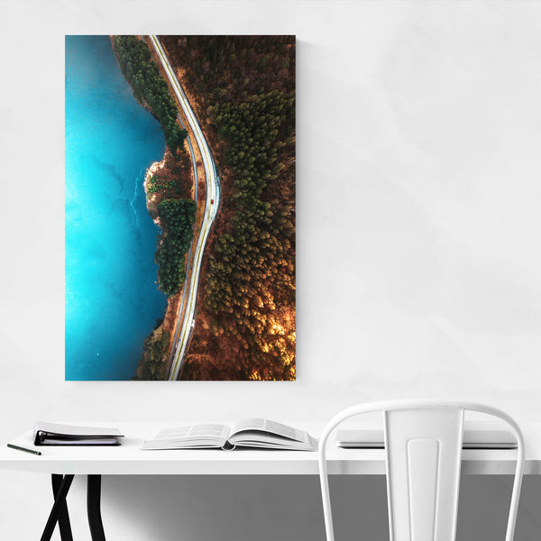 Haugesund Lake Aerial Norway Photo Art Print