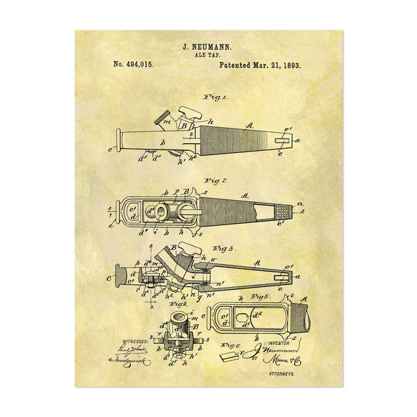 Alcohol Patent Print Art Print