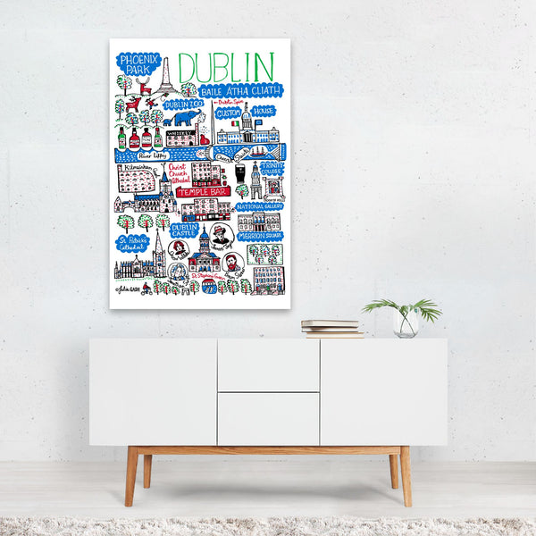 Dublin Travel Poster Art Print