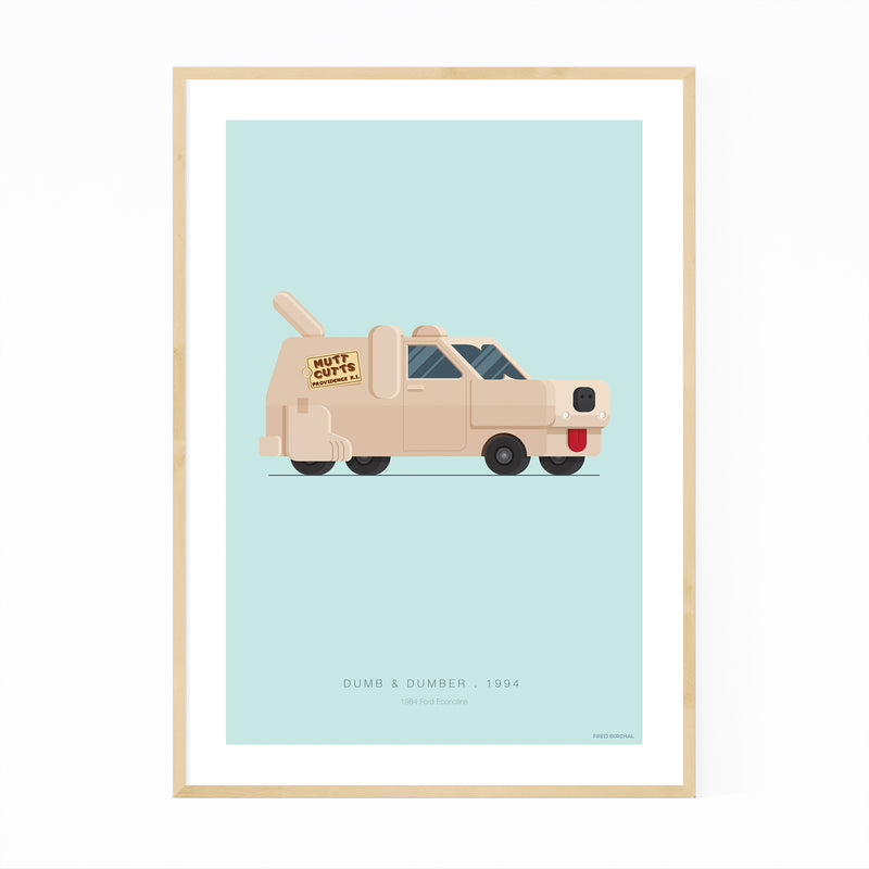 Dumb & Dumber Illustration Framed Art Print