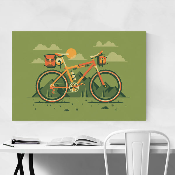 Mountain Bike Nature Hiking Art Print