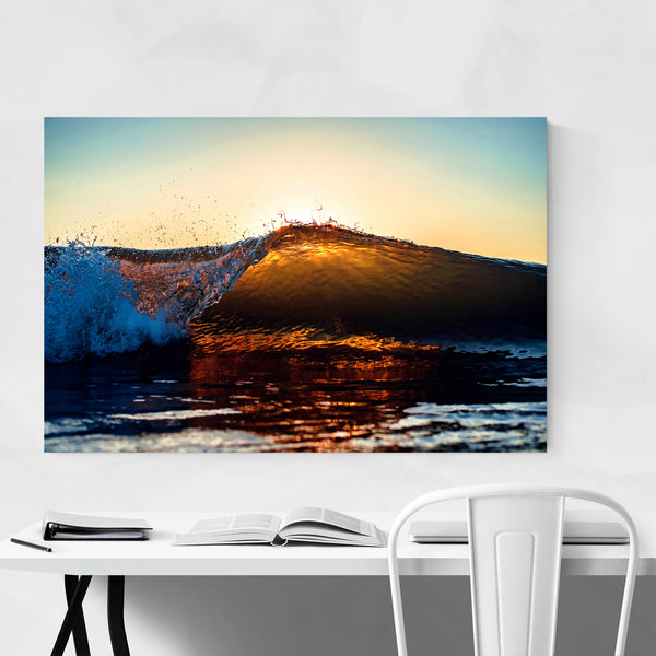 Beach Sunrise Wave Ocean Surf Art Print