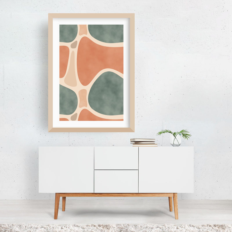 Abstract Pattern Painting Framed Art Print