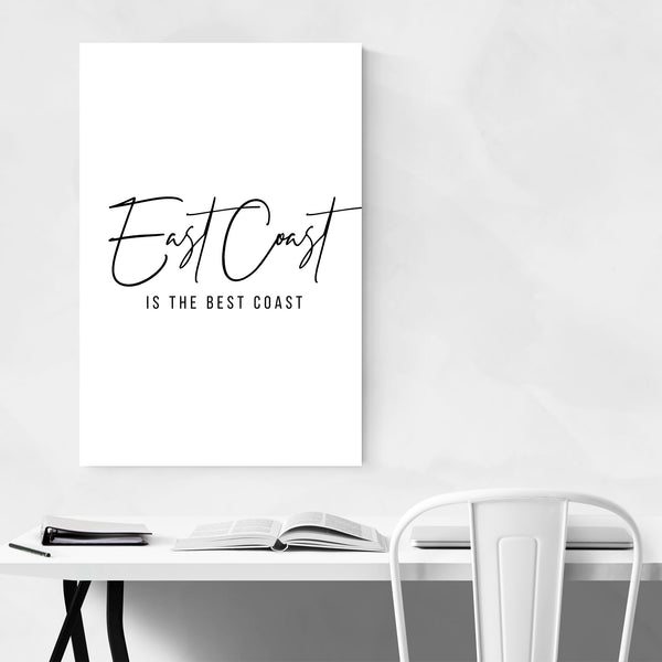 East Coast Minimal Typography Art Print