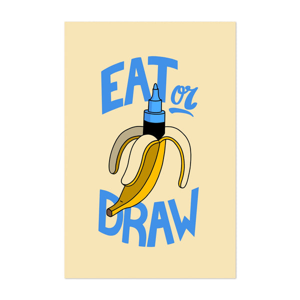 Kitchen Banana Typography Art Print