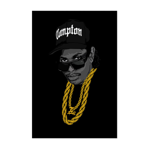 Eazy-E Portrait Music Hip Hop Art Print
