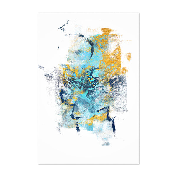 Abstract Blue Digital Painting Art Print