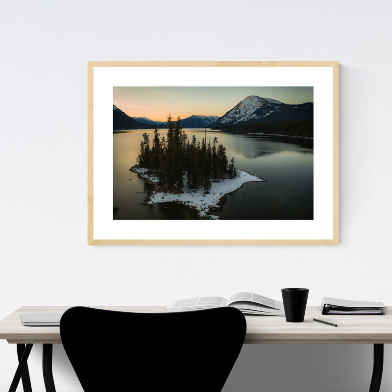 Lake Wenatchee Washington Photo Framed Art Print