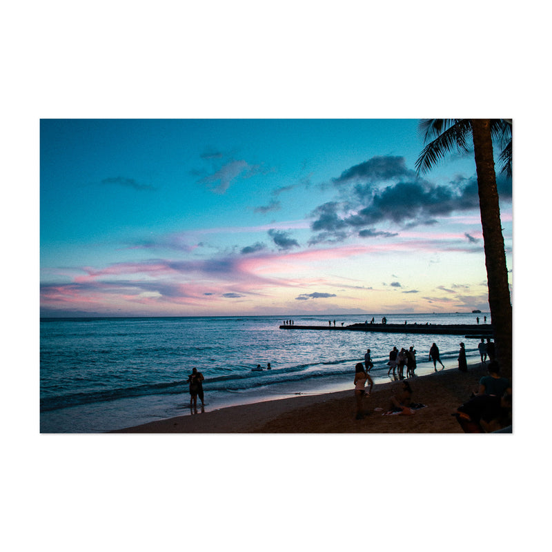 Honolulu Hawaii Beach Coastal Art Print